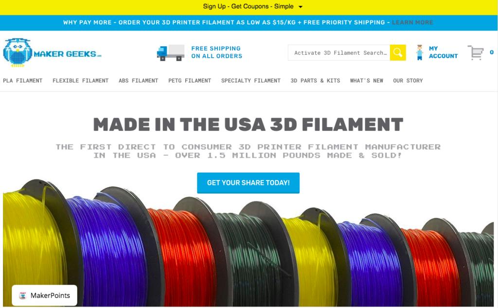 Maker Geeks Website