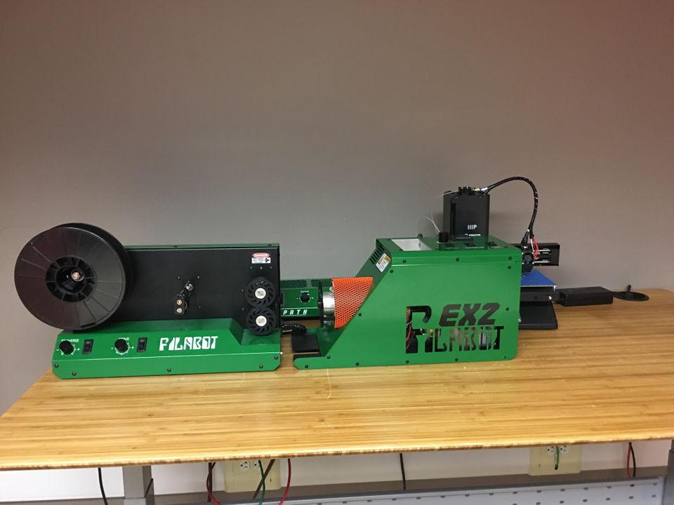 filabot filament extruder and winder