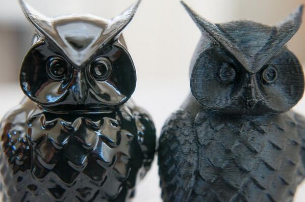 Owl 3d print ABS Solvents
