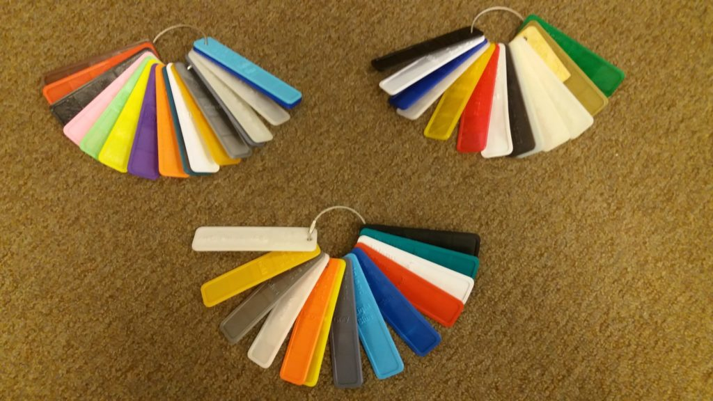 Inland filament color tab key rings